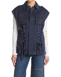 RED Valentino Laced Vest - Blue