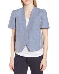 Nordstrom - Linen Cotton Puff Sleeve Jacket - Lyst