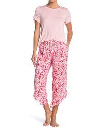 Kensie Floral Print Pajama Pants - Pink