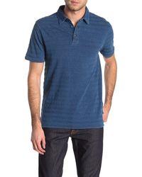 Wallin & Bros. Stripe Polo - Blue