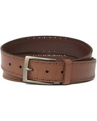 Tommy Bahama - Bridle Cut Leather Belt - Lyst