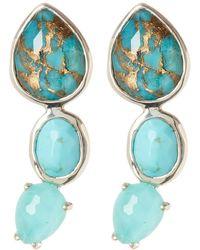 Ippolita - Rock Candy Sterling Silver Bezel & Prong Set 3-stone Drop Earrings - Lyst