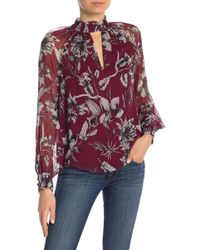Parker - Nicole Silk Floral Printed Dress - Lyst