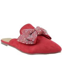 In Touch Footwear - Fione Embellished Bow Flat Mule - Lyst