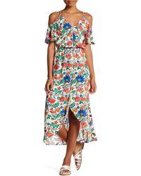 Fraiche By J - Cold Shoulder Pattern Maxi Dress - Lyst