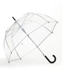 Shedrain Automatic Open Clear Bubble Stick Umbrella - Metallic
