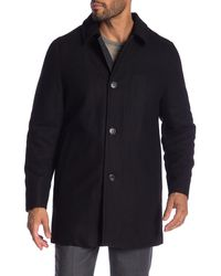 Hart Schaffner Marx Barcelona Wool Blend Coat - Black