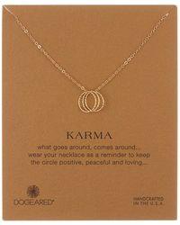 Dogeared - Karma Triple Sparkle Link Necklace - Lyst