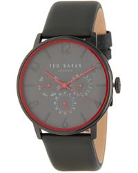 Ted Baker - Men's Leather Strap Watch, 42mm - Lyst