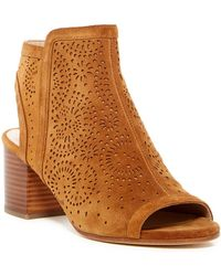 Via Spiga - Jorie Perforated Peep Toe Sandal - Lyst