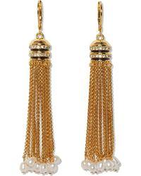 Vince Camuto Lever Tassel Earrings - Metallic