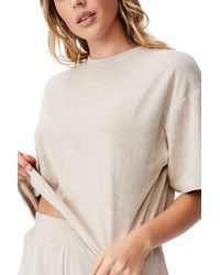Cotton On Terry Towelling Boxy T-shirt - Natural