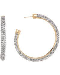 Adami & Martucci - Two-tone Woven Chain 63mm Hoop Earrings - Lyst