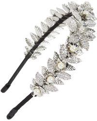 Tasha - Crystal Flower Headband - Lyst