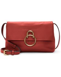Vince Camuto Plum Leather Crossbody Bag - Red
