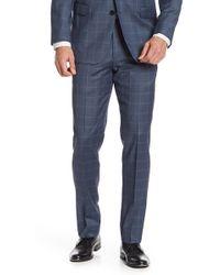 "Brooks Brothers - Dark Blue Windowpane Regent Fit Suit Separates Trouser - 30-34"" Inseam - Lyst"