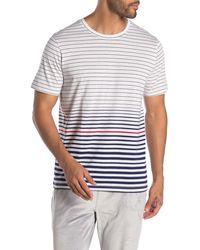 Daniel Buchler Striped Crew Neck Lounge T-shirt - Blue
