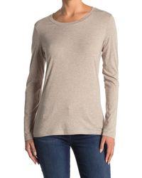 Caslon Scoop Neck Long Sleeve T-shirt - Multicolor