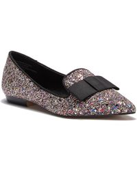Kensie - Mackenzy Glitter Bow Tie Flat - Lyst