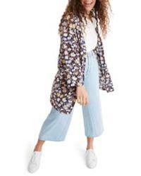 Madewell Short Robe Jacket - Blue