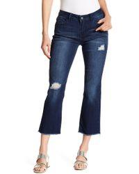 Kensie - Santiago Fray Hem Cropped Jeans - Lyst