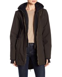 French Connection Dickey Layered Hoodie Coat - Multicolour