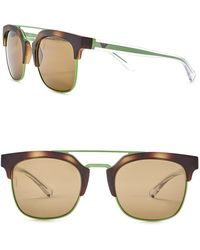 Emporio Armani - Men's Clubmaster 52mm Metal Frame Sunglasses - Lyst