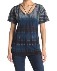 Go Couture Scoop Neck T-shirt - Blue