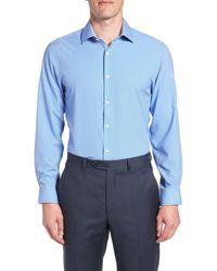W.r.k. Trim Fit 4-way Stretch Dress Shirt - Blue