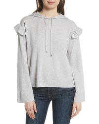 Joie - Pammeli Wool & Cashmere Hoodie Sweater - Lyst