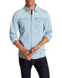 7 For All Mankind - Trucker Distressed Denim Regular Fit Shirt - Lyst