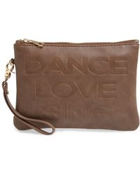 Under One Sky - Faux Leather Clutch & Portable Charger - Lyst