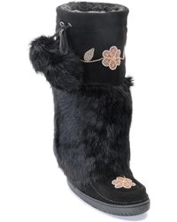 Manitobah Mukluks - Genuine Rabbit Fur & Sheepskin Tall Metis Mukluk - Lyst