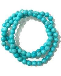 Charlene K - Turquoise Gemstone Bracelet - Set Of 3 - Lyst