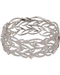 Nadri - Sophia Cz Leaf Side Hinge Bracelet - Lyst