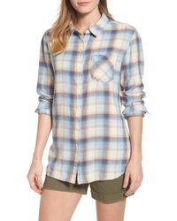 Caslon - Plaid Linen Blend Shirt - Lyst