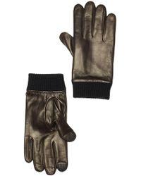 Theory - Rib Cuff Leather Zoya Glove - Lyst