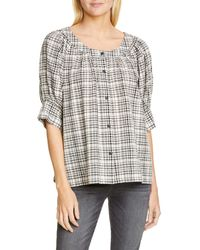 The Great The Puff Sleeve Button-up Shirt - Multicolor