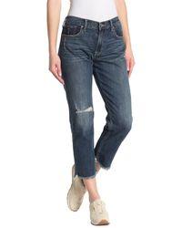 Lucky Brand Sienna Distressed Slim Crop Boyfriend Jeans - Blue