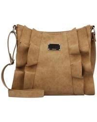 Kensie - Rhianna Faux Leather Ruffle Crossbody Bag - Lyst