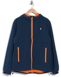 Izod Hooded Ripstop Jacket - Blue