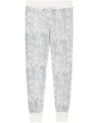 Alternative Apparel Printed Terry Pajama Sweatpants - Gray