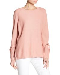 Two By Vince Camuto - Texture Stitch Tie-sleeve Top - Lyst