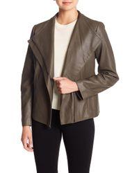T Tahari - Kelly Leather Jacket (petite) - Lyst
