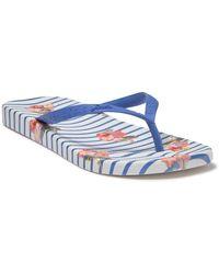 Joules Printed Flip Flop - Blue