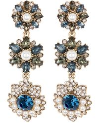 Marchesa - Crystal Linear Drop Earrings - Lyst
