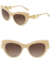 ccba24cd93a7 Lyst - Dolce   Gabbana Women s Almond Flowers Cat Eye Acetate Frame ...