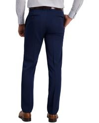 Louis Raphael Slim Fit Stretch Heather Solid Urban Pants - Blue