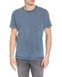 AG Jeans Julian Striped Crew Neck T-shirt - Blue
