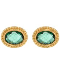 Judith Ripka - Sanibel Oval Stone Stud Earrings - Lyst